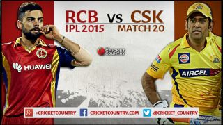 Live Cricket Score, RCB vs CSK, IPL 2015, RCB 154/8 in 20 overs: CSK win by 27 runs