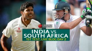 IND 125/2   Live Cricket Score, India vs South Africa 2015, 1st Test at Mohali, Day 2: India lead by 142 at stumps