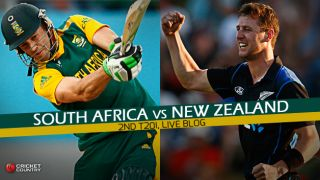 SA 145/8 in 20 Overs  Live Cricket Score, South Africa vs New Zealand 2015, 2nd T20I at Centurion: Visitors win by 32 runs; level series 1-1
