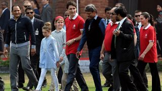 Photo: Kapil Dev, Azharuddin play cricket with Canada PM Justin Trudeau and his kids