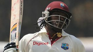 Chris Gayle brings up 37th Test fifty