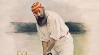 WG Grace caught by a gentleman's midsection