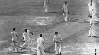 Don Bradman scores a second-ball duck in his farewell Test innings