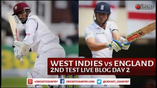 Live Cricket Score West Indies vs England 2015, 2nd Test at Grenada Day 2 ENG 74/0 in 26 Overs: England trail WI by 225 runs