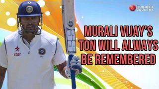 Murali Vijay's ton will be remembered for a long time