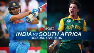 IND 252/6, overs 50 (Target 271)   Live Cricket Score India vs South Africa 2015, 3rd ODI at Rajkot: SA win by 18 runs