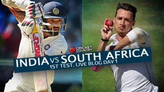 SA 28/2   Live Cricket Score India vs South Africa 2015, 1st Test at Mohali, Day 1: Spinners dominate on eventful day