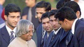 APJ Abdul Kalam with Indian cricketers