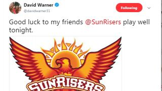 Warner wishes Hyderabad good luck ahead of their first game vs Rajasthan