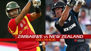Live Cricket Score, Zimbabwe vs New Zealand 2015, only T20I at Harare, ZIM 118/8 in Overs 20: Black Caps win by 80 runs