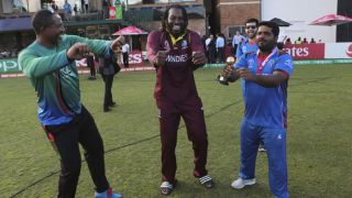 Watch: Chris Gayle, Mohammad Shahzad dance to 'champion' song