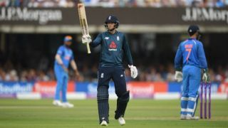 Root's century takes ENG to 322 in 50 overs against IND