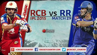 Live Cricket Score RCB vs RR, IPL 2015, Match 29, RCB 200/7 in 20 Overs: Match called off due to rain