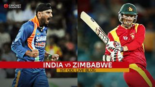 Live Cricket Score, India vs Zimbabwe 2015, 1st ODI at Harare ZIM 251/7 in 50 overs: India win by four runs