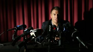 Video: Warner's tearful address to the press after ban