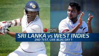 WI 17/1 in 5.2 overs │ Live Cricket Score Sri Lanka vs West Indies 2015, 2nd Test at Colombo (PSS), Day 1: Jomel Warrican records 4/67 on debut