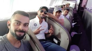 In Pictures: Kohli, Rohit , Dhoni having fun at the airport