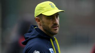 Du Plessis ruled out of Bangladesh T20Is; Duminy to lead South Africa