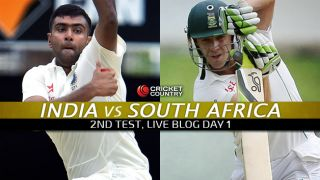 IND 80/0   Live Cricket Score India vs South Africa 2015, 2nd Test at Bengaluru, Day 1: IND trail by 134 runs at stumps