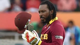 WI VS BAN 3rd ODI : Chris Gayle equals Shahid Afridi's sixes record in international cricket