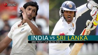 IND 21/3 | Live Cricket Score, India vs Sri Lanka 2015, 3rd Test in Colombo, Day 3, STUMPS: Rain forces early end to day's play after SL take early 2nd innings wickets to limit India's advantage